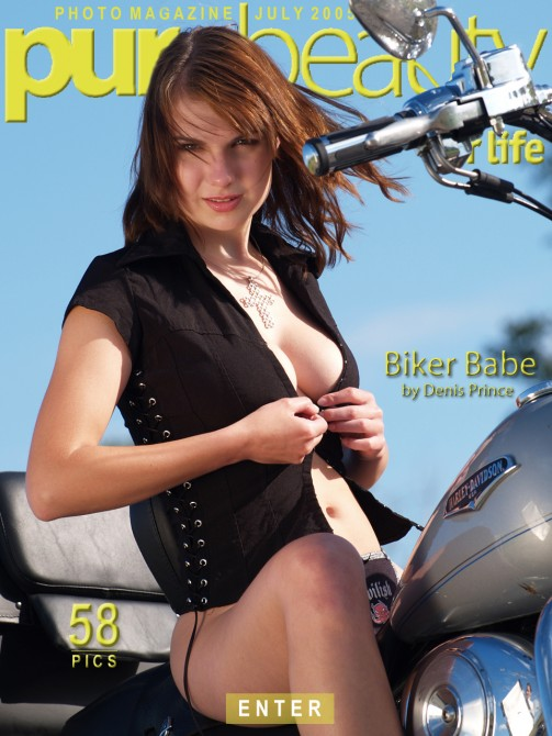 Lucie W in Biker Babe gallery from PUREBEAUTY by Denis Prince