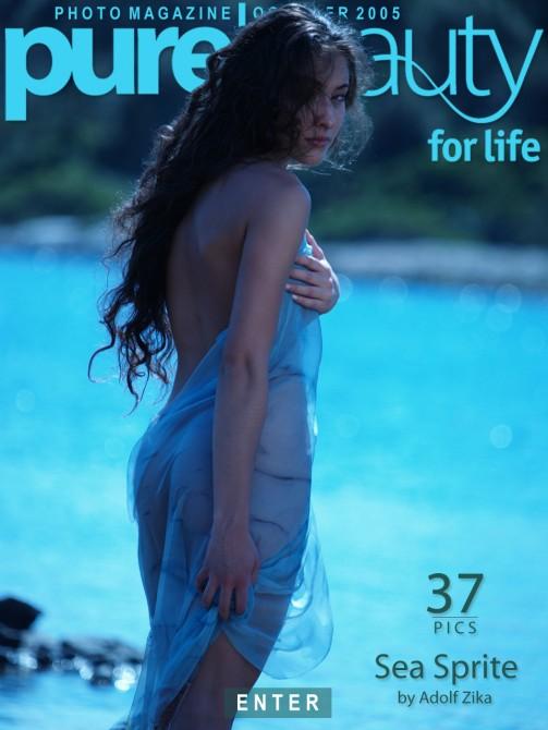 Katcha Novak - `Sea Sprite` - by Adolf Zika for PUREBEAUTY
