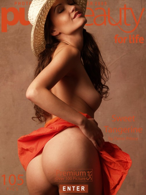 Erika Nasticka in Sweet Tangerine gallery from PUREBEAUTY by Denis Prince
