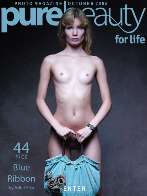 Lenka B - `Blue Ribbon` - by Adolf Zika for PUREBEAUTY