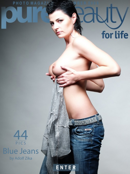 Avi Ivariova - `Blue Jeans` - by Adolf Zika for PUREBEAUTY