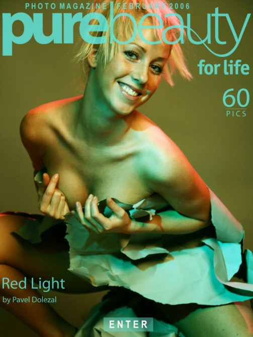 Monika W in Red Light gallery from PUREBEAUTY by Pavel Dolezal