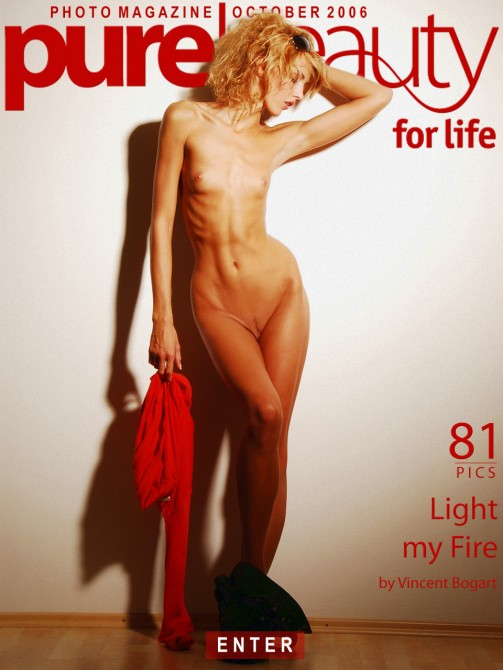 Jitka Branich - `Light my Fire` - by Vincent Bogart for PUREBEAUTY