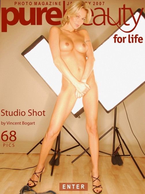 Martina G - `Studio Shot` - by Vincent Bogart for PUREBEAUTY