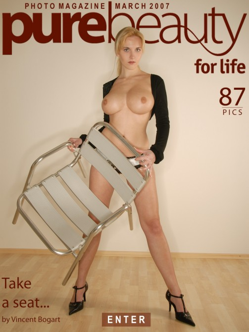 Marketa P - `Take A Seat` - by Vincent Bogart for PUREBEAUTY