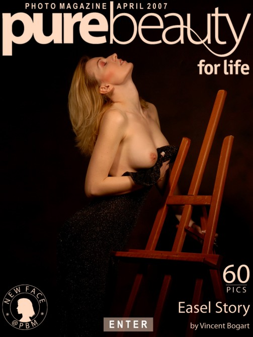 Ivana J - `Easel Story` - by Vincent Bogart for PUREBEAUTY
