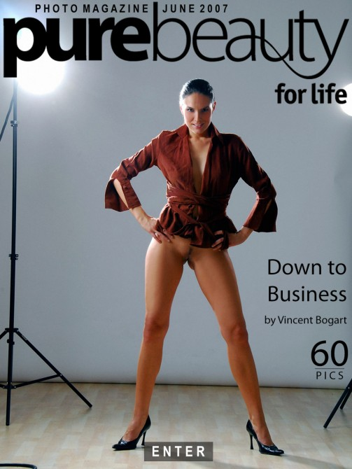 Zuzana - `Down To Business` - by Vincent Bogart for PUREBEAUTY