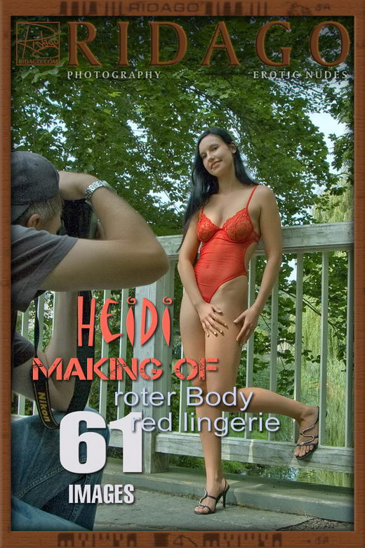 Heidi - `Red Lingerie` - by Carlos Ridago for RIDAGO