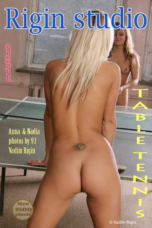 Anna & Nadia - `Table Tennis` - by Vadim Rigin for RIGIN-STUDIO