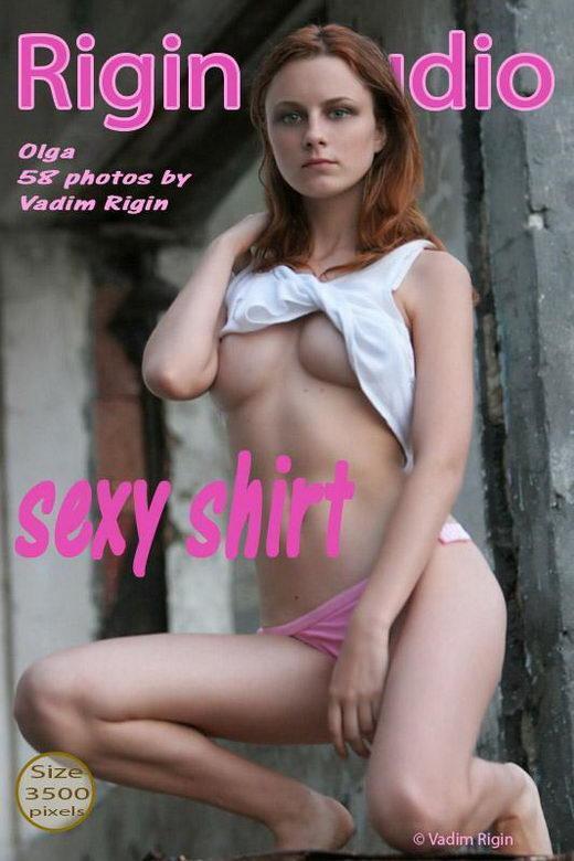 Olga - `Sexy Shirt` - by Vadim Rigin for RIGIN-STUDIO