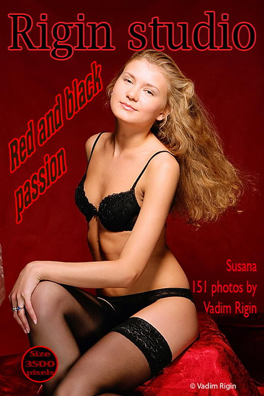 Susana - `Red and Black Passion` - by Vadim Rigin for RIGIN-STUDIO