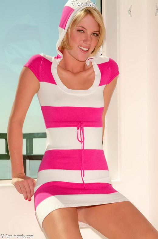 Riley Ray - `Pink Stripe` - by Ron Harris for RON HARRIS (ARCHIVE)