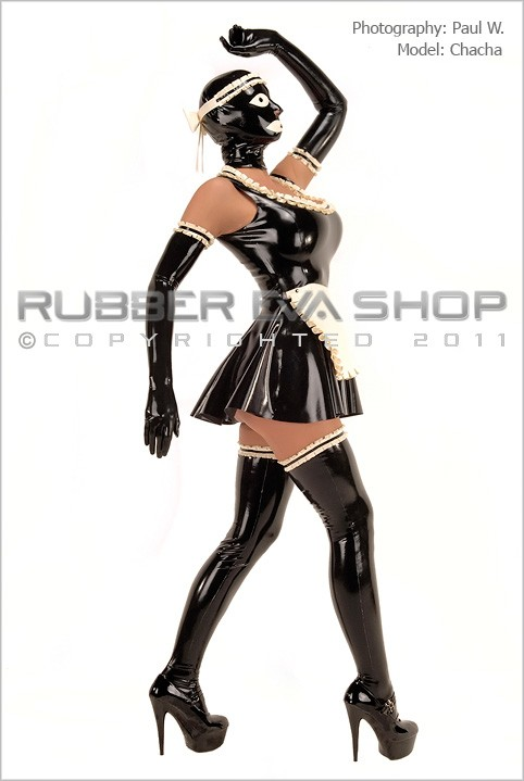 Chacha - `Bizarre Rubber Maids Uniform` - by Paul W for RUBBEREVA