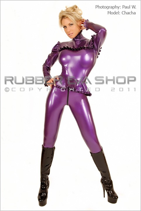 Chacha - `Female Rubber Leggings` - by Paul W for RUBBEREVA