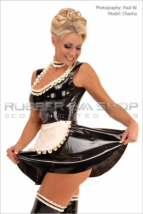 Chacha - `Frilly Rubber Maids Dress` - by Paul W for RUBBEREVA