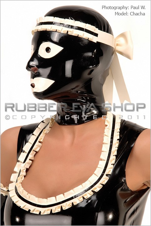 Chacha - `Frilly Rubber Maids Hood` - by Paul W for RUBBEREVA
