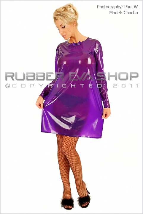 Chacha - `Short Rubber Nightie` - by Paul W for RUBBEREVA