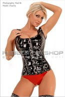 Chacha in Buckle Front PVC Corset Top gallery from RUBBEREVA by Paul W