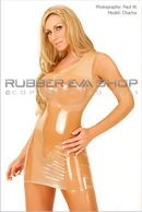 Off The Shoulder Rubber Mini Dress