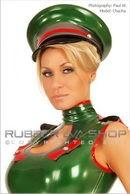 Officers Rubber Peak Cap
