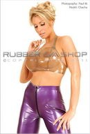 Rubber Halterneck Crop Top