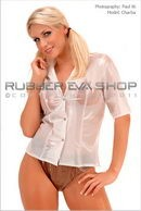 Short Sleeved Plastic Blouse