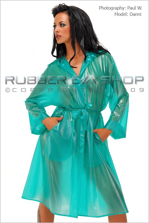 Danni - `3/4 Length Plastic Mac` - by Paul W for RUBBEREVA