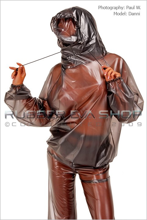 Danni - `Breathplay Hooded Top` - by Paul W for RUBBEREVA