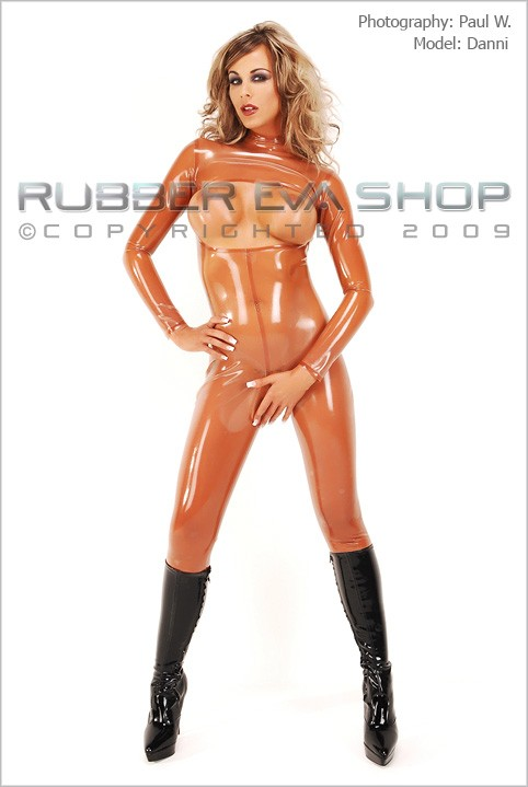 Danni - `Crotchless Rubber Catsuit` - by Paul W for RUBBEREVA