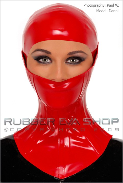 Danni - `Heavy Rubber Half Face Neck Brace` - by Paul W for RUBBEREVA