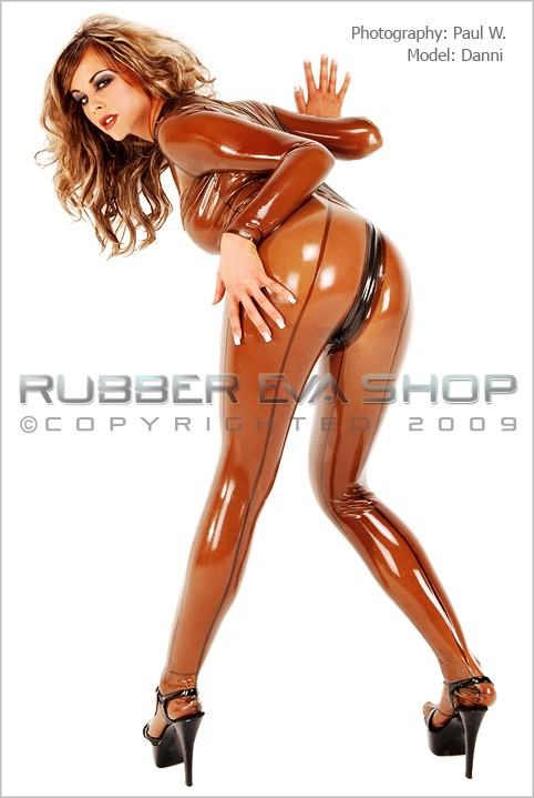 Danni - `Kitty Catsuit` - by Paul W for RUBBEREVA