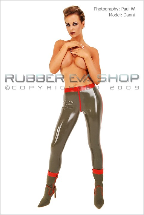 Danni - `Military Leggings` - by Paul W for RUBBEREVA
