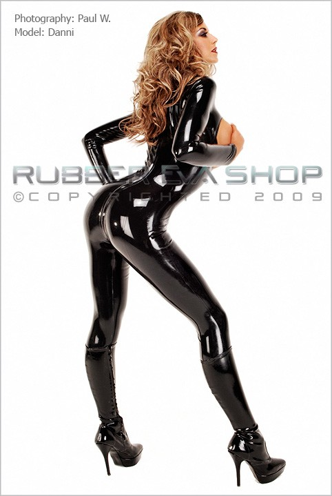 Danni - `Open Bust Catsuit` - by Paul W for RUBBEREVA