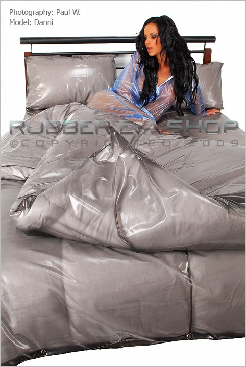 Danni - `Plastic Bedding Set` - by Paul W for RUBBEREVA