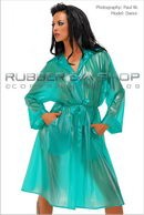 Danni in 3/4 Length Plastic Mac gallery from RUBBEREVA by Paul W