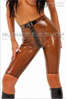 Tight Rubber Bermuda Shorts