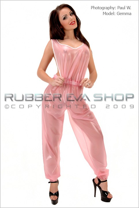 Gemma - `Plastic Dungarees` - by Paul W for RUBBEREVA