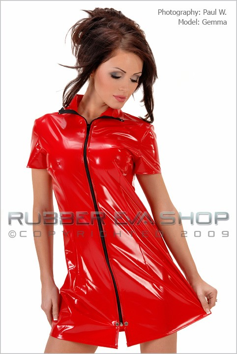 Gemma - `PVC Club Dress` - by Paul W for RUBBEREVA