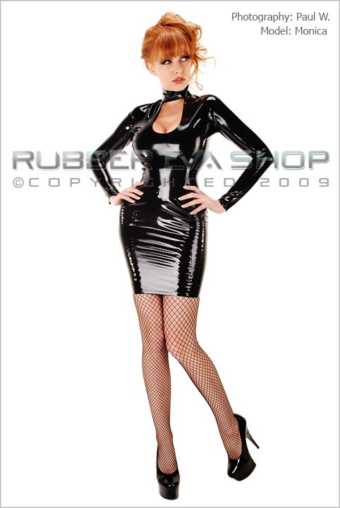 Monica - `Mistress Dress` - by Paul W for RUBBEREVA