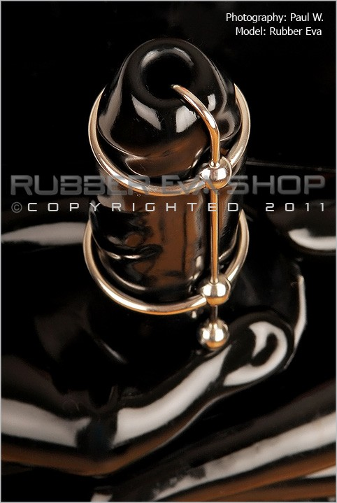 Rubber Eva - `Double Ringed Penis Head Plug` - by Paul W for RUBBEREVA