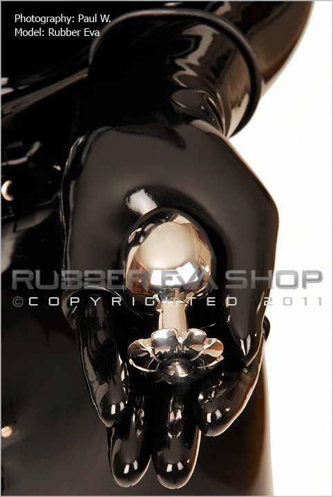 Rubber Eva - `Flower Petal Stainless Steel Butt Plug` - by Paul W for RUBBEREVA