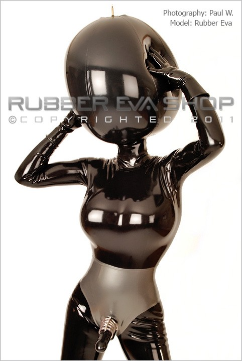 Rubber Eva - `Giant Inflatable Rubber Ball Hood` - by Paul W for RUBBEREVA