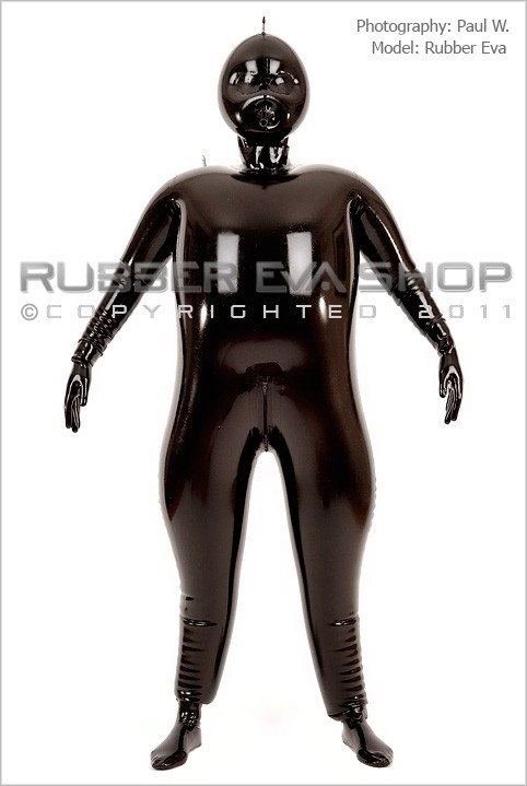 Rubber Eva - `Inflatable Rubber Catsuit` - by Paul W for RUBBEREVA
