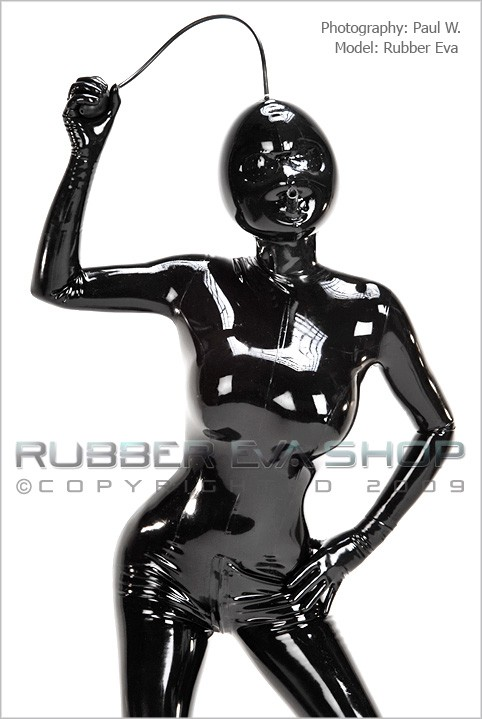 Rubber Eva - `Inflatable Rubber Hood With Pepperpot Eyes` - by Paul W for RUBBEREVA