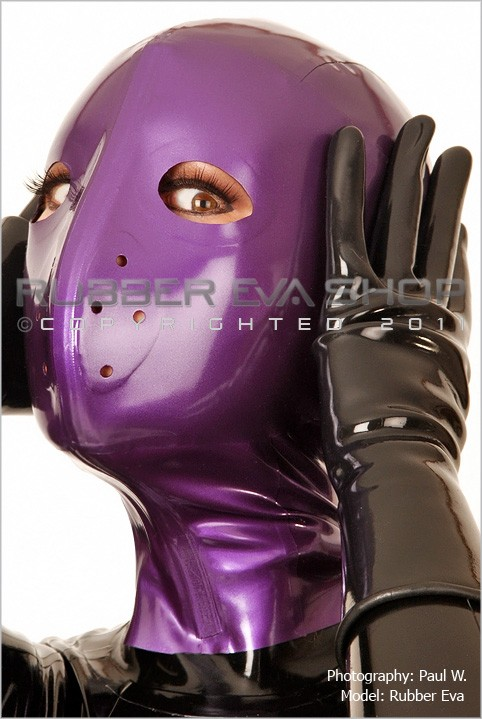 Rubber Eva - `Latex Hannibal Hood` - by Paul W for RUBBEREVA