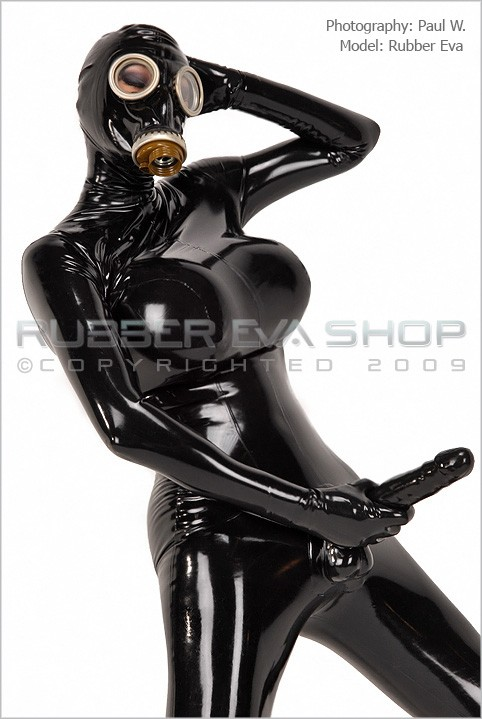 Rubber Eva - `Rubber Cock Catsuit` - by Paul W for RUBBEREVA