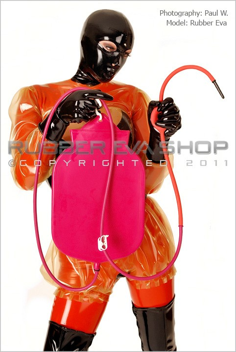 Rubber Eva - `Rubber Enema Kit With Higginson Pump` - by Paul W for RUBBEREVA