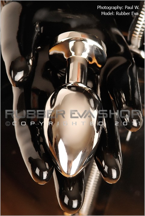 Rubber Eva - `Solid Stainless Steel Butt Plug` - by Paul W for RUBBEREVA