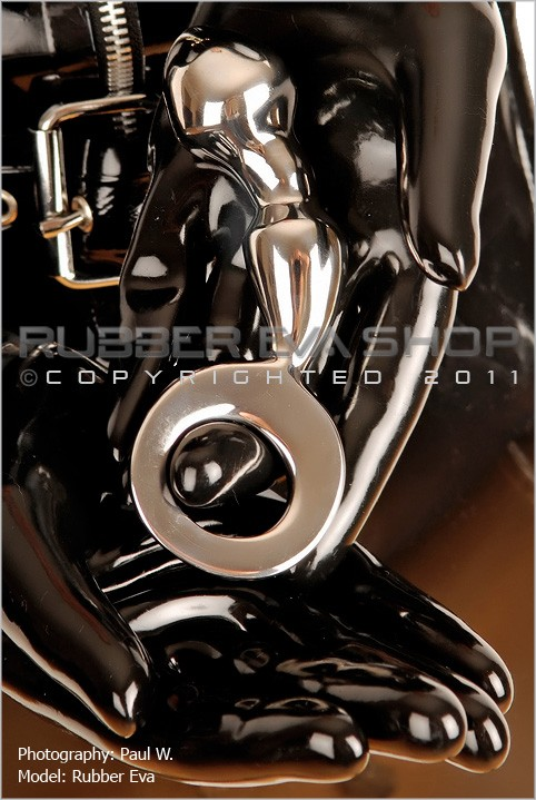 Rubber Eva - `Stainless Steel Anal Joy Plug` - by Paul W for RUBBEREVA
