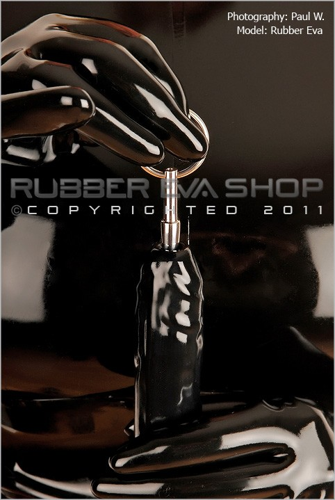 Rubber Eva - `Tapered End Hollow Penis Plug` - by Paul W for RUBBEREVA
